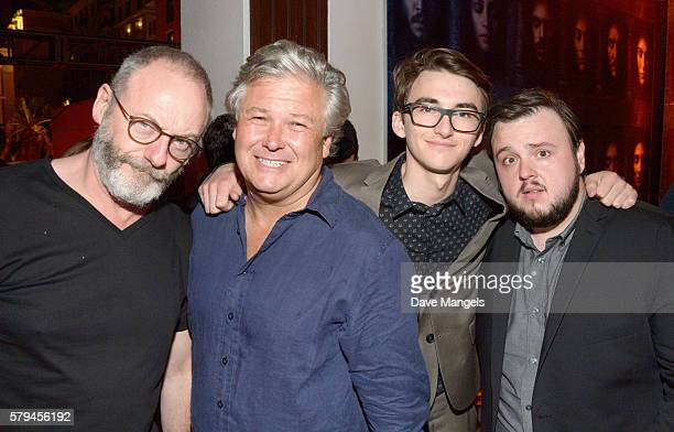 Liam Cunningham Conleth Hill Isaac Hempstead Wright and John Bradley attend Entertainment Weekly's ComicCon Bash held at Float Hard Rock Hotel San...