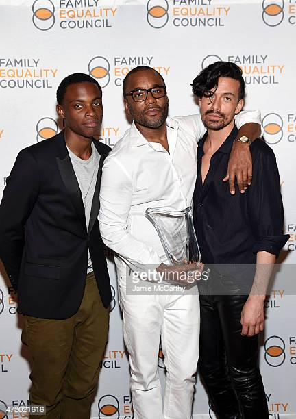 Liam Daniels Lee Daniels and Jahil Fisher attend the Family Equality Council's 2015 Night At The Pier at Pier 60 on May 11 2015 in New York City