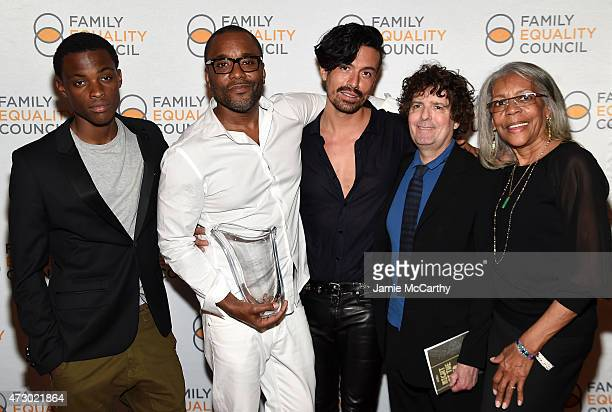 Liam Daniels Lee Daniels Jahil Fisher Billy Hopkins and Clara Mae Daniels attend the Family Equality Council's 2015 Night At The Pier at Pier 60 on...