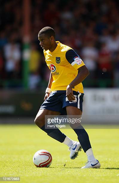 Liam Davis of Oxford United in action during the npower League Two match between Swindon Town FC and Oxford United at the County Ground on August 21...