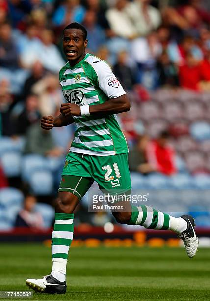 Liam Davis of Yeovil in action during the Sky Bet Championship match between Burnley and Yeovil Town at Turf Moor on August 17 2013 in Burnley England
