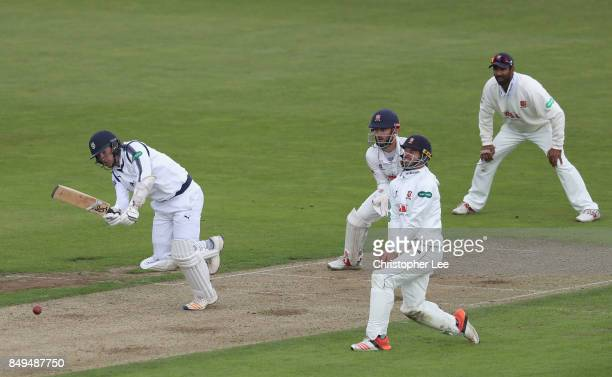Liam Dawson of Hampshire in action during the Specsavers County Championship Division One match between Hampshire and Essex at The Rose Bowl on...
