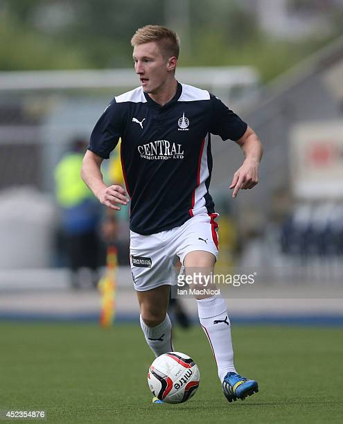 Liam Dick of Falkirk controls the ball during the Pre Season Friendly match between Falkirk and Rotherham United at The Falkirk Stadium on July 18...