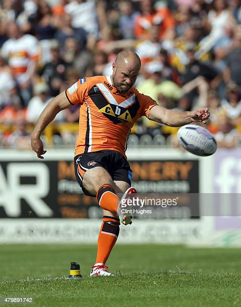 Liam Finn of Castleford Tigers in action during the First Utility Super League match between Castleford Tigers and Widnes Vikings at The Jungle on...