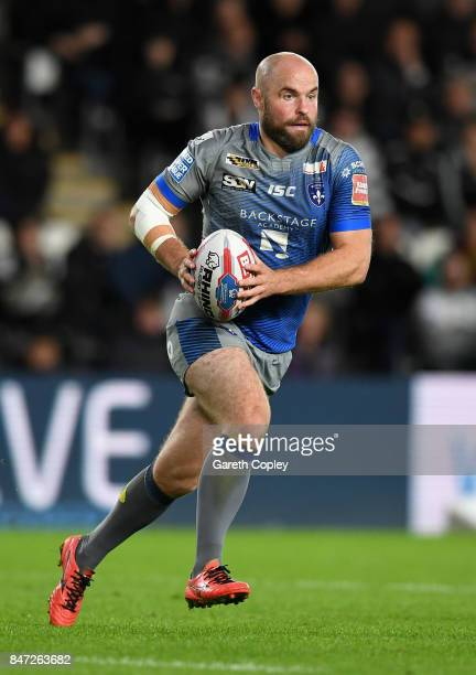 Liam Finn of Wakefield during the Betfred Super League match between Hull FC and Wakefield Trinity on September 14 2017 in Hull England