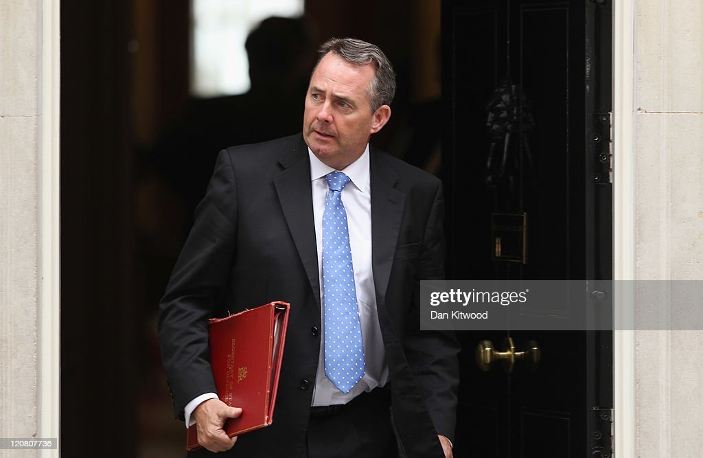 Liam Fox, British Secretary of State for Defence leaves 10 Downing Street on August 11, 2011 in London, England. British Prime Minister David Cameron hosted a COBRA meeting and a cabinet meeting earlier this morning to discuss the current unrest that has spread across the country. Parliament has been recalled following four days of rioting across the UK.