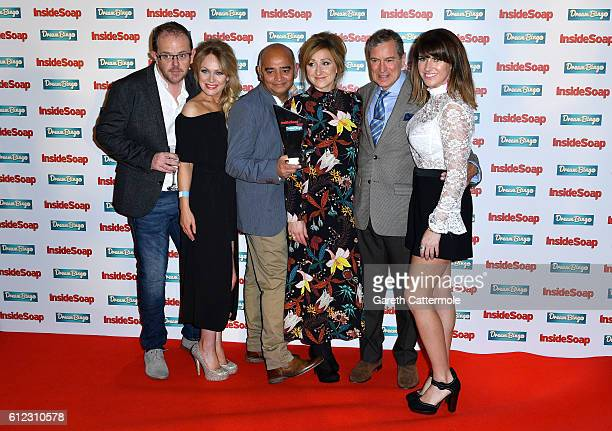 Liam Fox Michelle Hardwick Bhasker Patel Charlotte Bellamy John Middleton and Laura Norton attend the Inside Soap Awards at The Hippodrome on October...