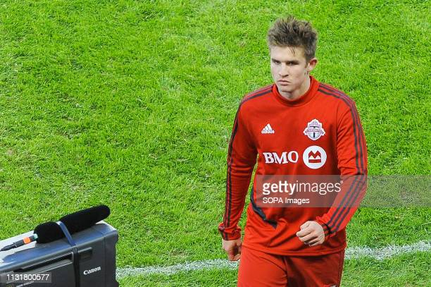 Liam Fraser looks at the stage before 2019 MLS Regular Season match between Toronto FC and New England Revolution at BMO Field in Toronto. .