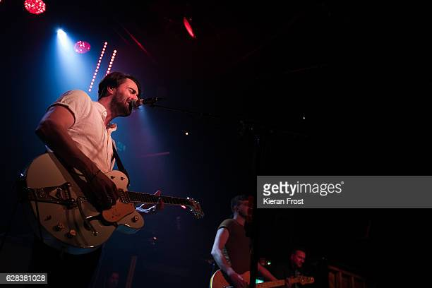 Liam Fray and Joe Cross of The Courteeners performs at The Academy on December 7, 2016 in Dublin, Ireland.