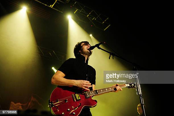 Liam Fray of the Courteeners perform on stage>> at O2 Academy on March 15 2010 in Bournemouth England