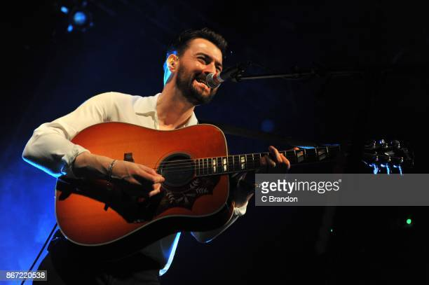 Liam Fray performs on stage at KOKO on October 27 2017 in London England