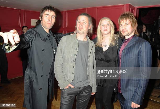 Liam Galagher, Jason Starkey, Lee Starkey and Zak Starkey attend the launch of Liam Gallaghers clothing line, Pretty Green, at the Gore Hotel on...