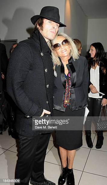 Liam Gallagher and Annie Nightingale attend the Gala Premiere of 'Crossfire Hurricane' during the 56th BFI London Film Festival at Odeon Leicester...