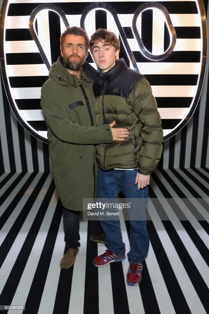 Liam Gallagher (L) and Gene Gallagher attend the Brits Awards 2018 After Party hosted by Warner Music Group, Ciroc and British GQ at Freemasons Hall on February 21, 2018 in London, England.