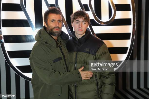 Liam Gallagher and Gene Gallagher attend the Brits Awards 2018 After Party hosted by Warner Music Group Ciroc and British GQ at Freemasons Hall on...