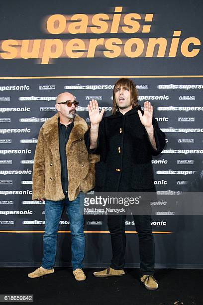 Liam Gallagher and Paul 'Bonehead' Arthurs during the 'Oasis: Supersonic' German Premiere on October 27, 2016 in Berlin, Germany.