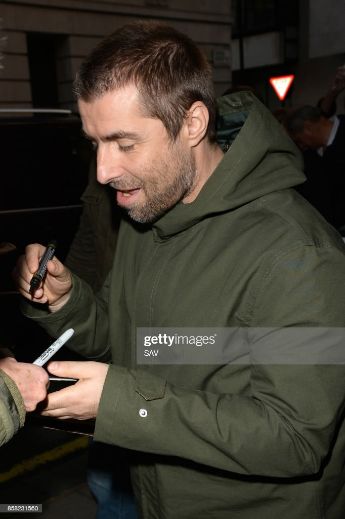 Liam Gallagher at BBC Radio 2 on October 6, 2017 in London, England.
