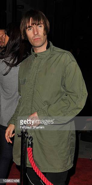 Liam Gallagher attends the launch of Levi's fit system Curve ID at Studio Valbonne on September 2 2010 in London England