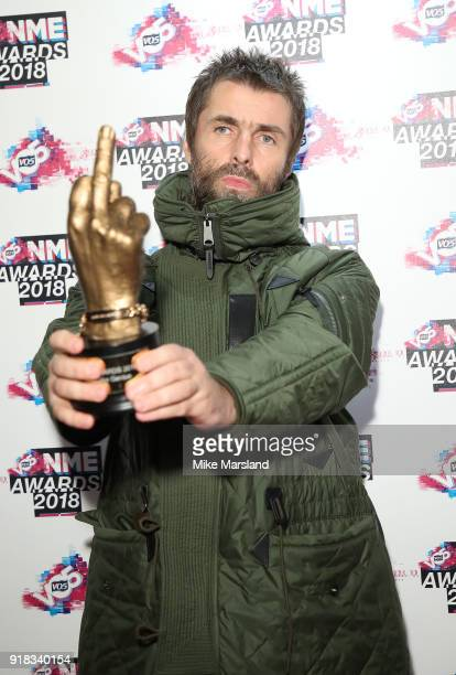 Liam Gallagher attends the VO5 NME Awards held at Brixton Academy on February 14 2018 in London England