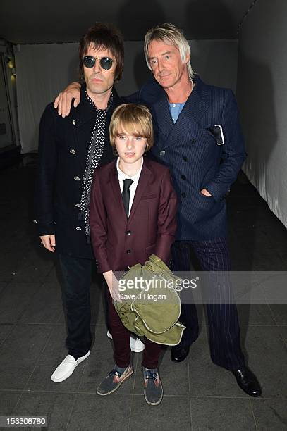 Liam Gallagher Gene Gallagher and Paul Weller attend a gala screening of Magical Mystery Tour at The BFI Southbank on October 2 2012 in London England