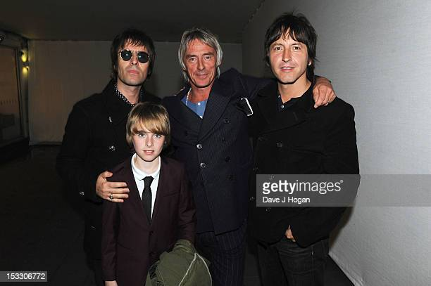 Liam Gallagher Gene Gallagher Paul Weller and Gem Archer attend a gala screening of Magical Mystery Tour at The BFI Southbank on October 2 2012 in...