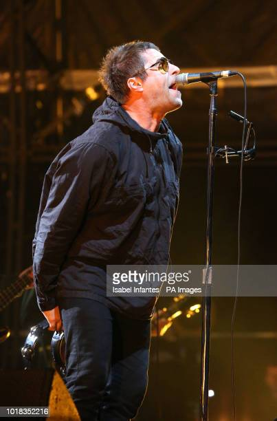 Liam Gallagher headlines on day one of the brand new Rize Festival in Hylands Park, Chelmsford, Essex.