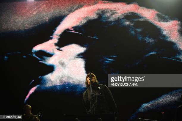 Liam Gallagher headlines the main stage during the TRNSMT Festival on Glasgow Green in the centre of Glasgow, Scotland on September 11 the second day...