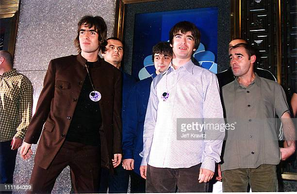 """Liam Gallagher, Noel Gallagher and Paul """"Bonehead"""" Arthurs of Oasis"""