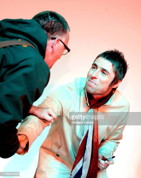 Liam Gallagher of Beady Eye meets fans at an instore appearance at HMV on June 11 2013 in Manchester England