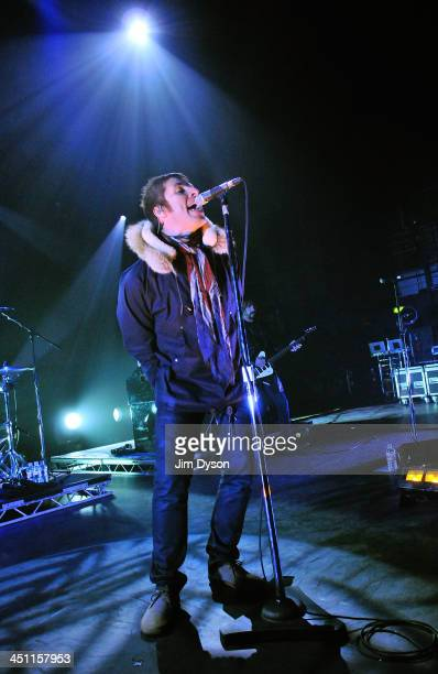 Liam Gallagher of Beady Eye performs live on stage at Hammersmith Apollo on November 21 2013 in London United Kingdom