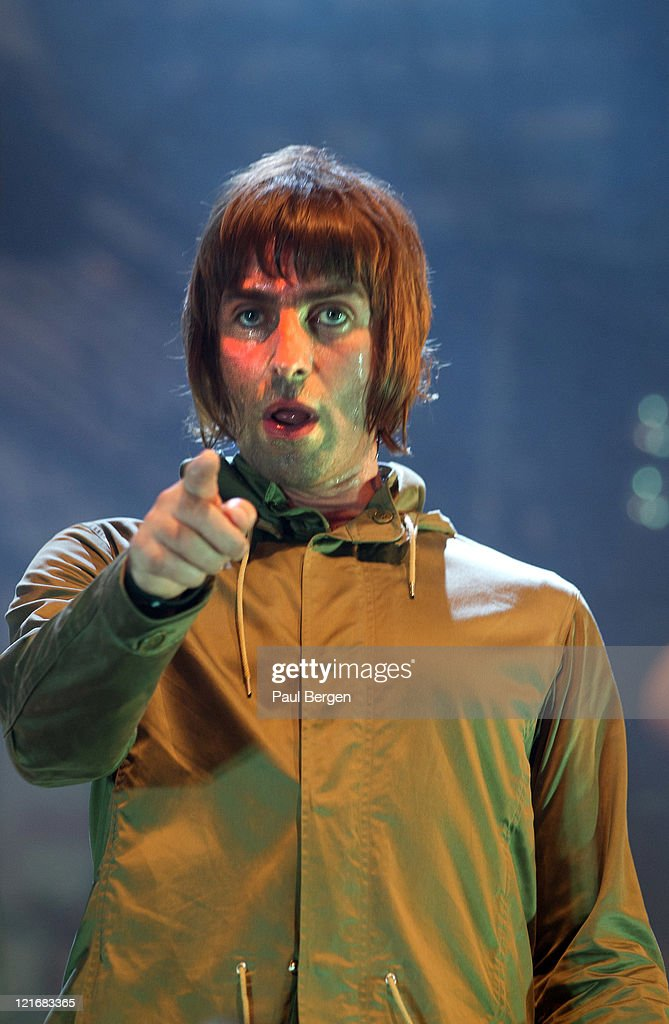 Liam Gallagher of Beady Eye performs on stage at Lowlands Festival on August 21, 2011 in Biddinghuizen, Netherlands.