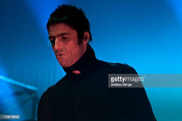 Liam Gallagher of Beady Eye performs on stage at The Ritz, Manchester on June 19, 2013 in Manchester, England.