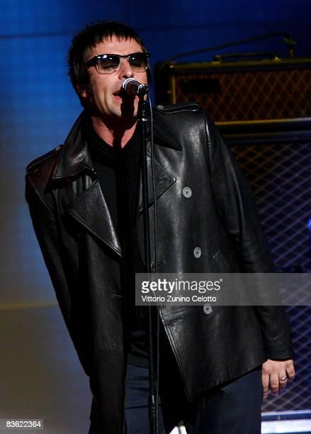 Liam Gallagher of Oasis attends 'Che Tempo Che Fa' Italian TV Show on November 9 2008 in Milan Italy