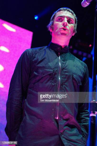 Liam Gallagher of Oasis performs at Oracle Arena on December 3, 2008 in Oakland, California.