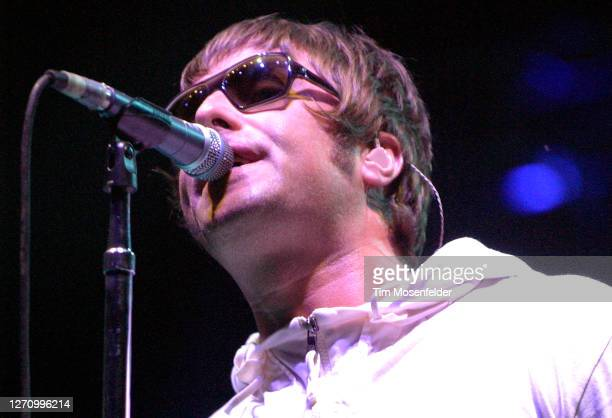 Liam Gallagher of Oasis performs during day two of the Austin City Limits Music Festival at Zilker Park on September 24, 2005 in Austin, Texas.
