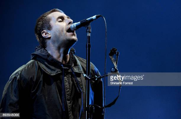 Liam Gallagher performs a homecoming show at Manchester Arena on December 16 2017 in Manchester England