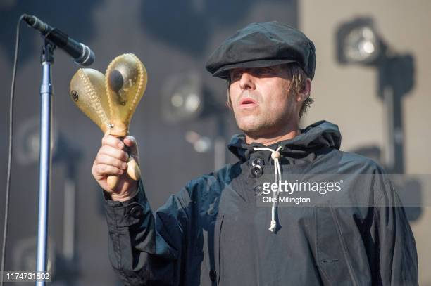Liam Gallagher performs as a special guest on the main stage during The Legitimate Peaky Blinders Festival 2019 at the Custard Factory on September...