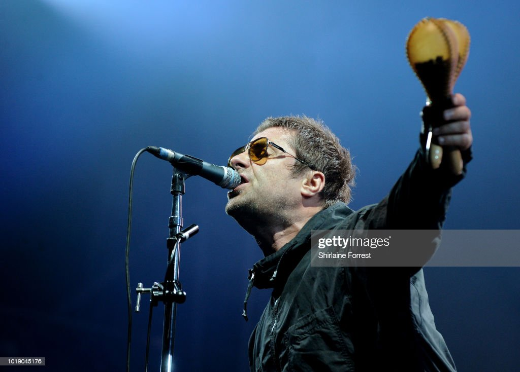 Liam Gallagher Performs At Emirates Old Trafford