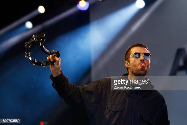 Liam Gallagher performs at Falls Festival on December 30 2017 in Lorne Australia
