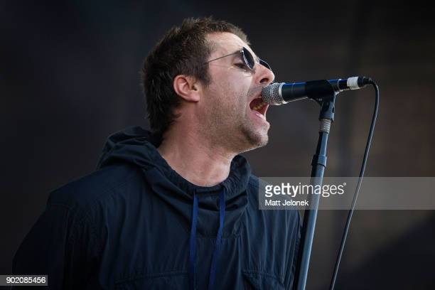 Liam Gallagher performs at Falls Festival on January 7 2018 in Fremantle Australia