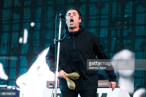 Liam Gallagher performs at Finsbury Park on June 29 2018 in London England
