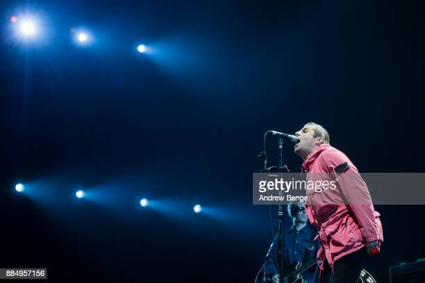 Liam Gallagher performs at First Direct Arena on December 3, 2017 in Leeds, England.