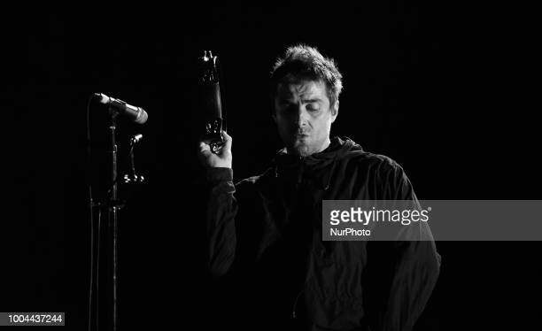 Liam Gallagher performs at International Benicassim Festival 2018 on July 22 2018 in Benicassim Spain