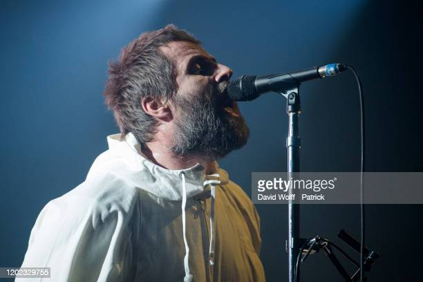 Liam Gallagher performs at Le Zenith on February 21 2020 in Paris France