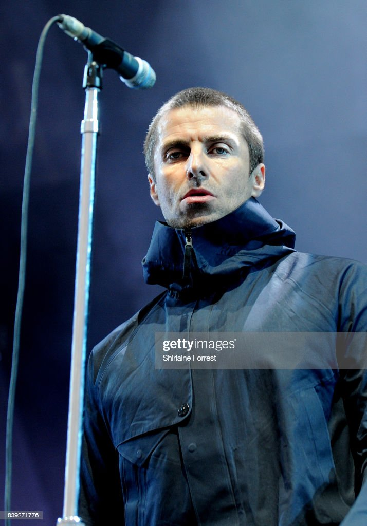 Liam Gallagher performs at Leeds Festival at Bramhall Park on August 25, 2017 in Leeds, England.