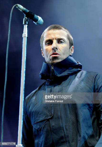 Liam Gallagher performs at Leeds Festival at Bramhall Park on August 25 2017 in Leeds England