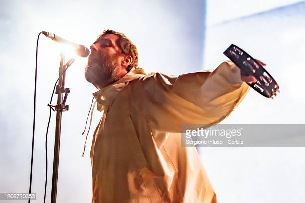 Liam Gallagher performs at Mediolanum Forum on February 16 2020 in Milan Italy