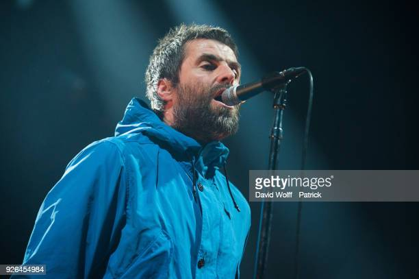 Liam Gallagher performs at Olympia on March 2 2018 in Paris France