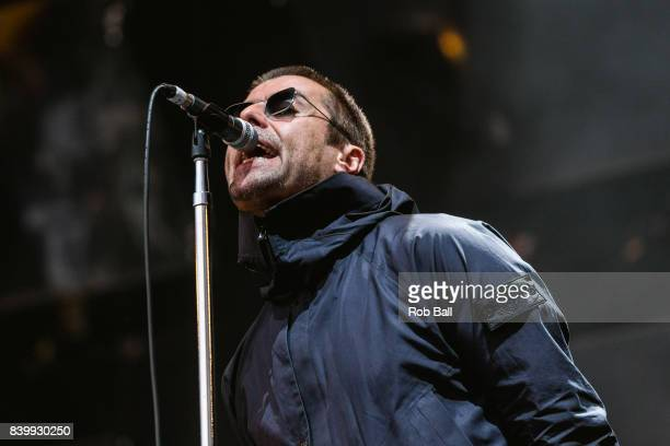 Liam Gallagher performs at Reading Festival at Richfield Avenue on August 27, 2017 in Reading, England.