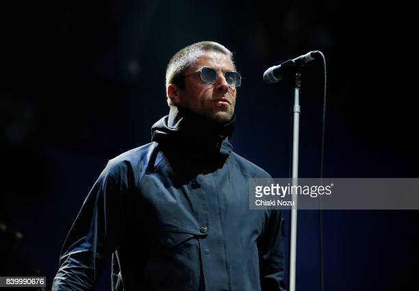 Liam Gallagher performs at Reading Festival at Richfield Avenue on August 27 2017 in Reading England
